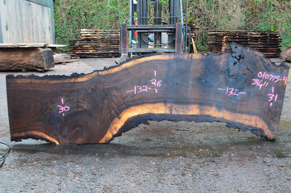 Oregon Black Walnut Slab 010715-04