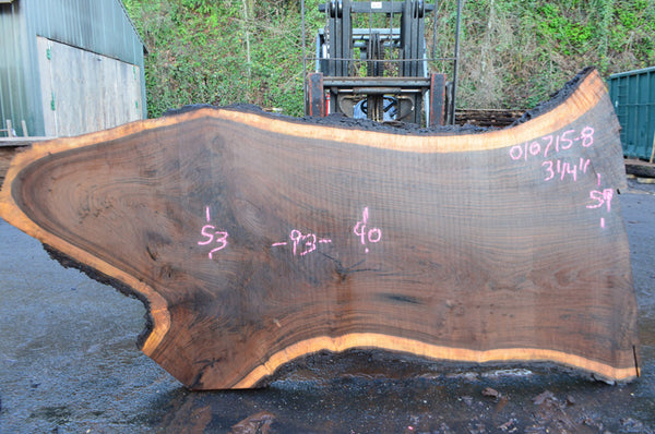 Oregon Black Walnut Slab 010715-08