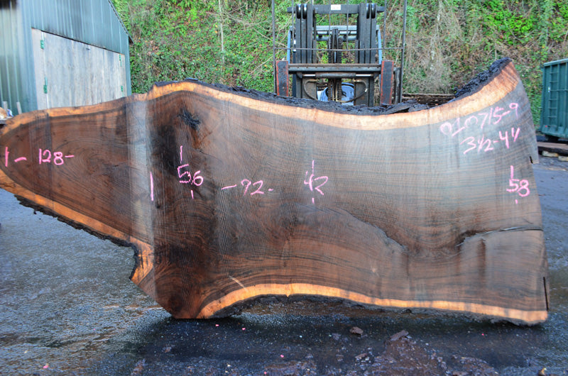 Oregon Black Walnut Slab 010715-09