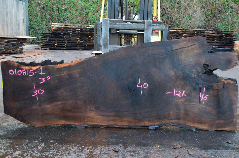 Oregon Black Walnut Slab 010815-01