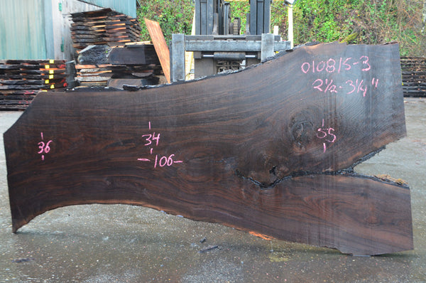 Oregon Black Walnut Slab 010815-03