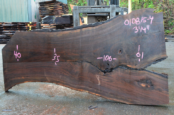 Oregon Black Walnut Slab 010815-04