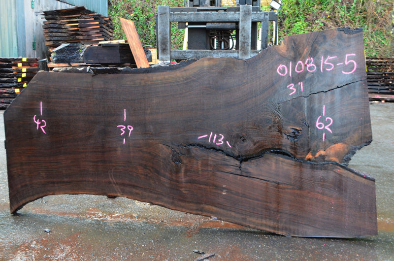 Oregon Black Walnut Slab 010815-05