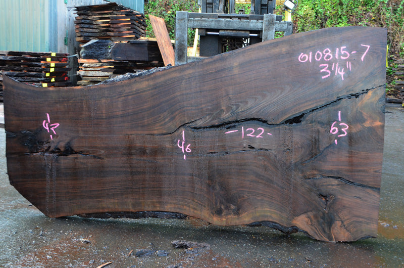 Oregon Black Walnut Slab 010815-07
