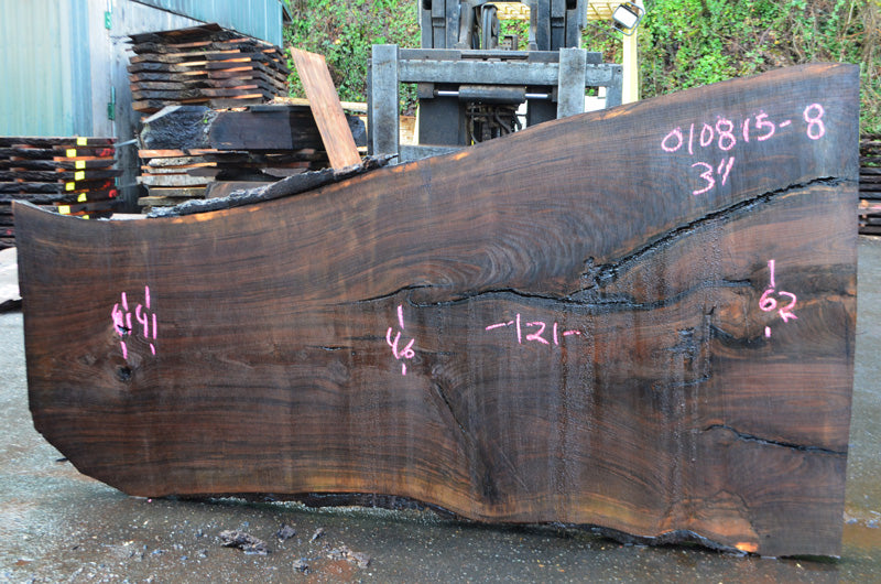 Oregon Black Walnut Slab 010815-08