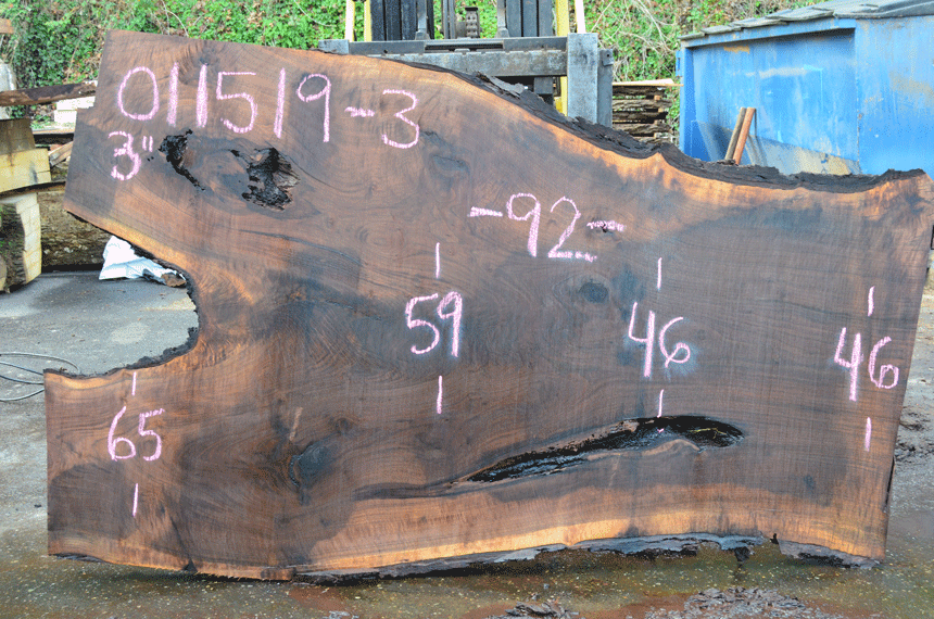 011519-03 Oregon Black Walnut Slab