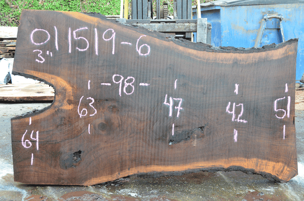 011519-06 Oregon Black Walnut Slab