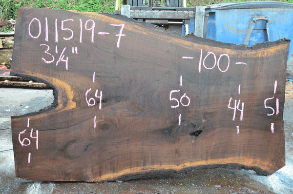 011519-07 Oregon Black Walnut Slab
