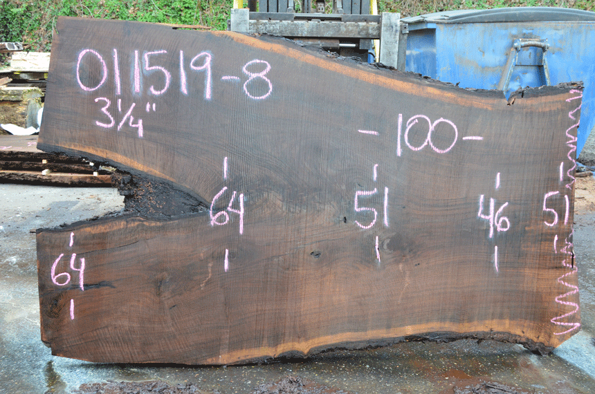 011519-08 Oregon Black Walnut Slab