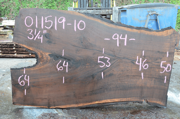 011519-10 Oregon Black Walnut Slab