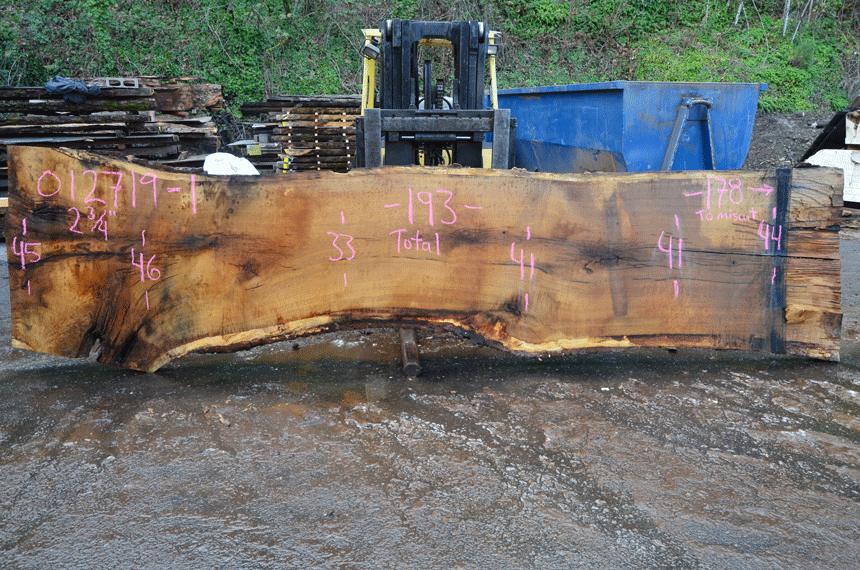 012719-01 Oregon White Oak Slab