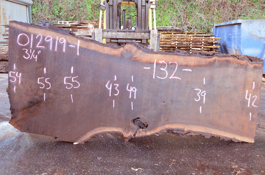 012919-01 Oregon Black Walnut Slab
