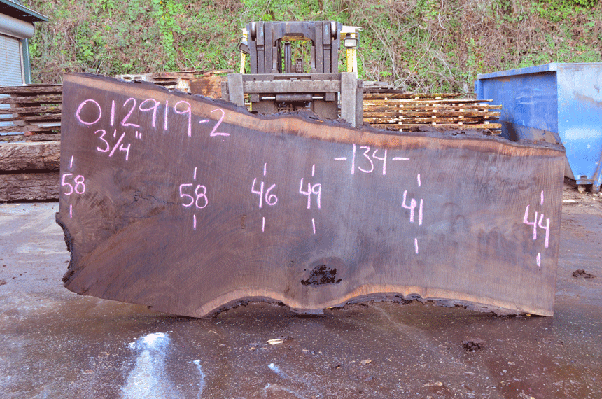 012919-02 Oregon Black Walnut Slab