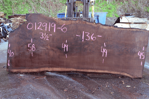 012919-06 Oregon Black Walnut Slab