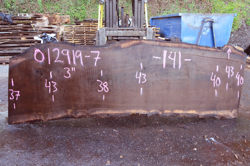 012919-07 Oregon Black Walnut Slab