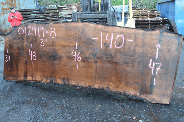 012919-08 Oregon Black Walnut Slab