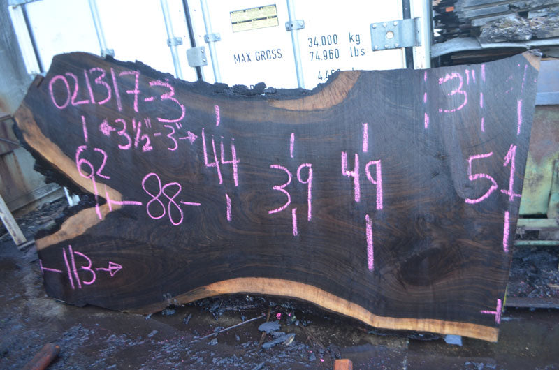 Oregon Black Walnut Slab 021317-03