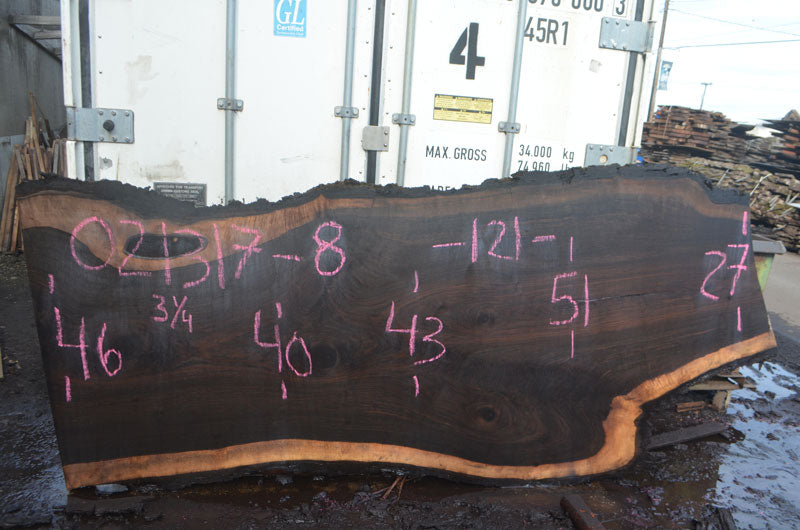 Oregon Black Walnut Slab 021317-08