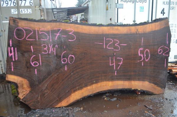 Oregon Black Walnut Slab 021517-03