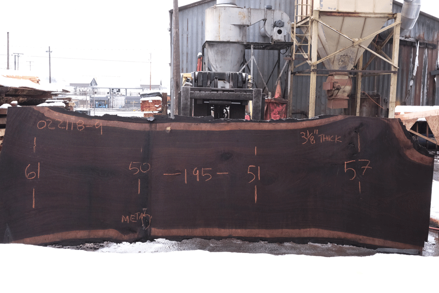 Oregon Black Walnut Slab 022118-09