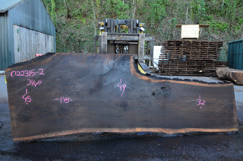 Oregon Black Walnut Slab 022315-02