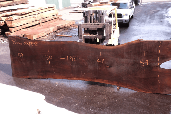 Oregon Black Walnut Slab 022318-02