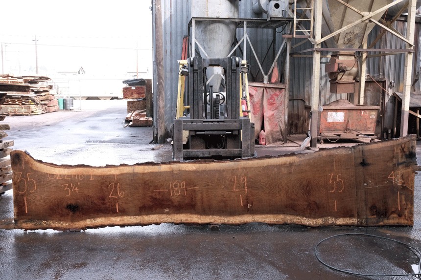 Oregon White Oak Slab 022718-01