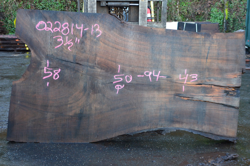 Oregon Black Walnut Slab 022814-13