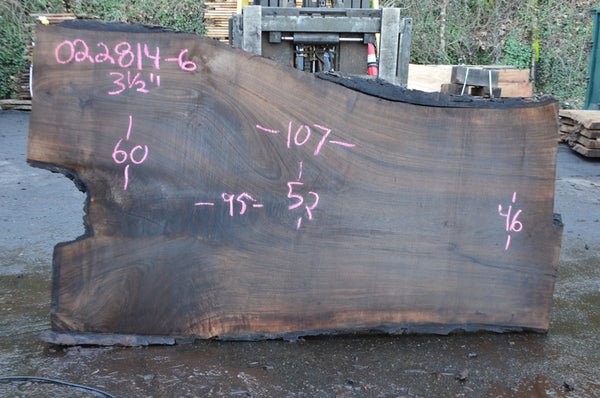 Oregon Black Walnut Slab 022814-06