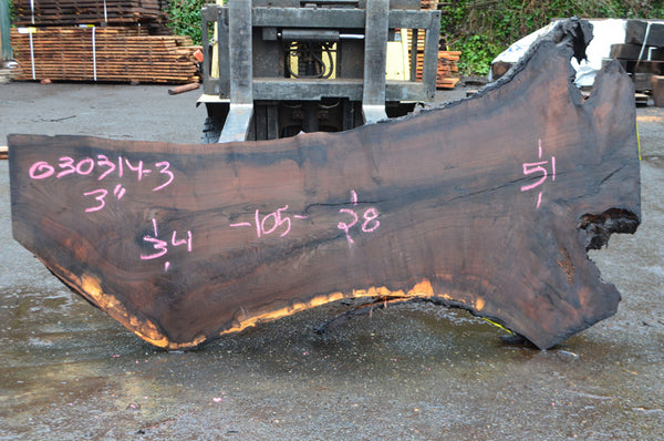 Oregon Black Walnut Slab 030314-03