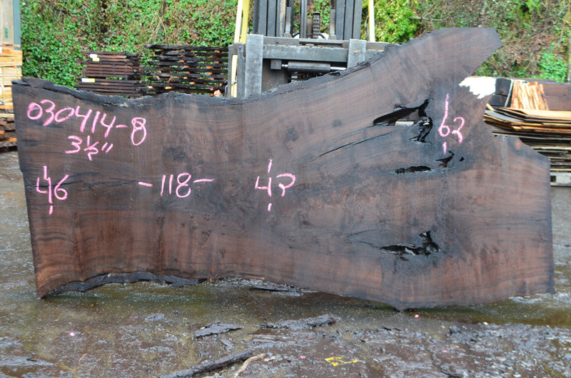 Oregon Black Walnut Slab 030414-08