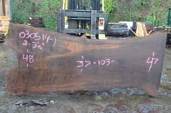 Oregon Black Walnut Slab 030514-01