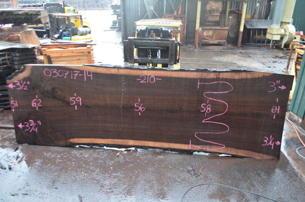 Oregon Black Walnut Slab 030717-14