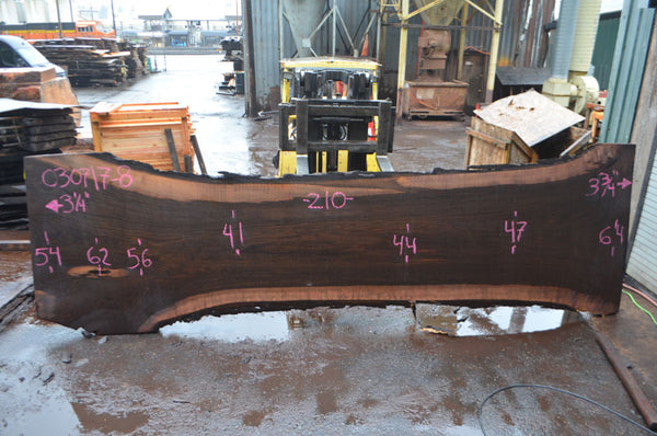 Oregon Black Walnut Slab 030717-08