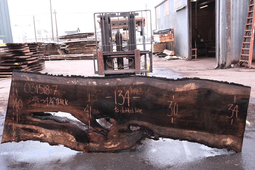 Oregon Black Walnut Slab 031518-07