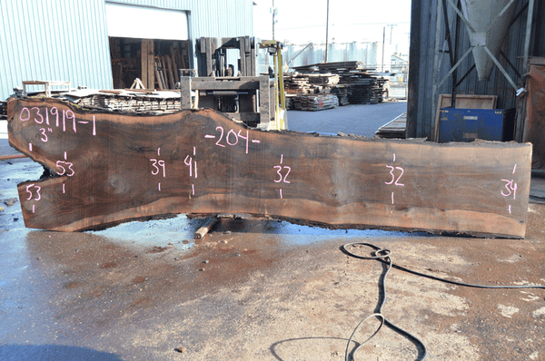 031919-01 Oregon Black Walnut Slab