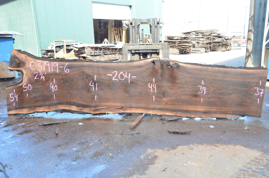 031919-06 Oregon Black Walnut Slab