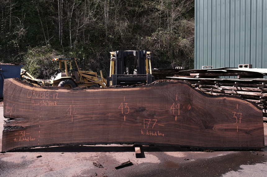 Oregon Black Walnut Slab 032818-12