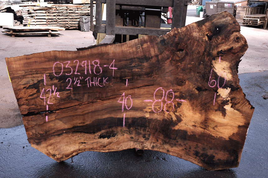 Big Leaf Maple Slab 032918-04