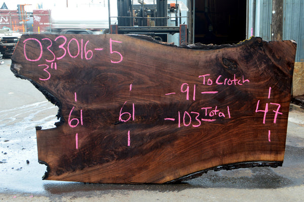 Oregon Black Walnut Slab 033016-05