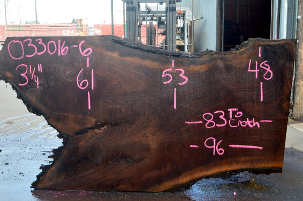 Oregon Black Walnut Slab 033016-06