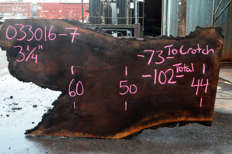 Oregon Black Walnut Slab 033016-07