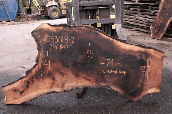 Oregon Black Walnut Slab 033018-02