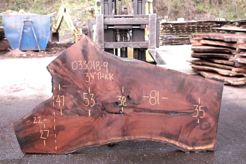 Oregon Black Walnut Slab 033018-09