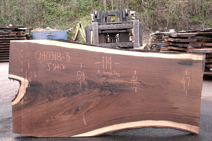 Oregon Black Walnut Slab 040318-03