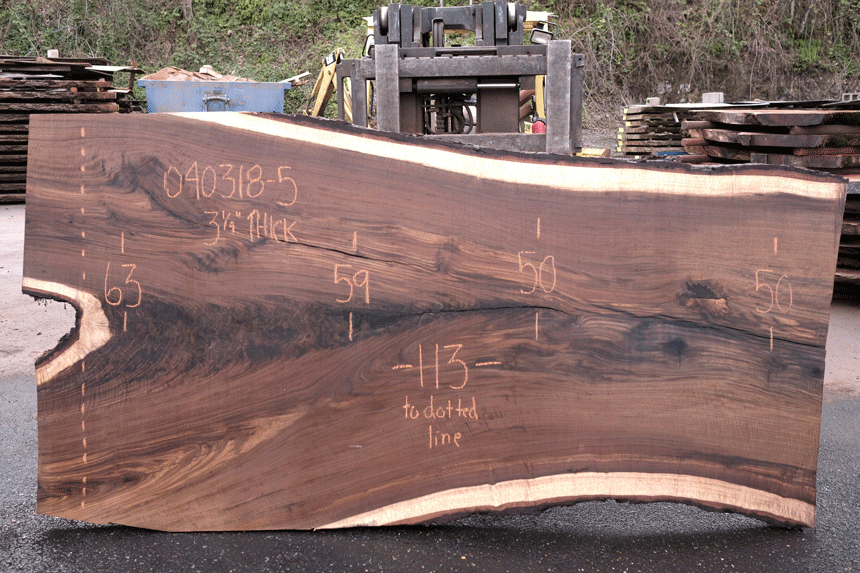 Oregon Black Walnut Slab 040318-05