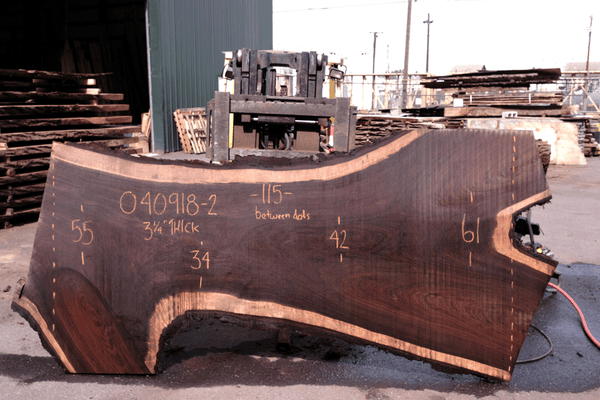Oregon Black Walnut Slab 040918-02