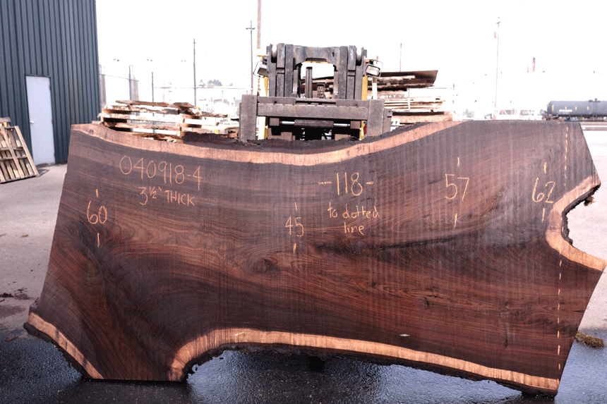 Oregon Black Walnut Slab 040918-04