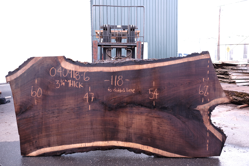 Oregon Black Walnut Slab 040918-06