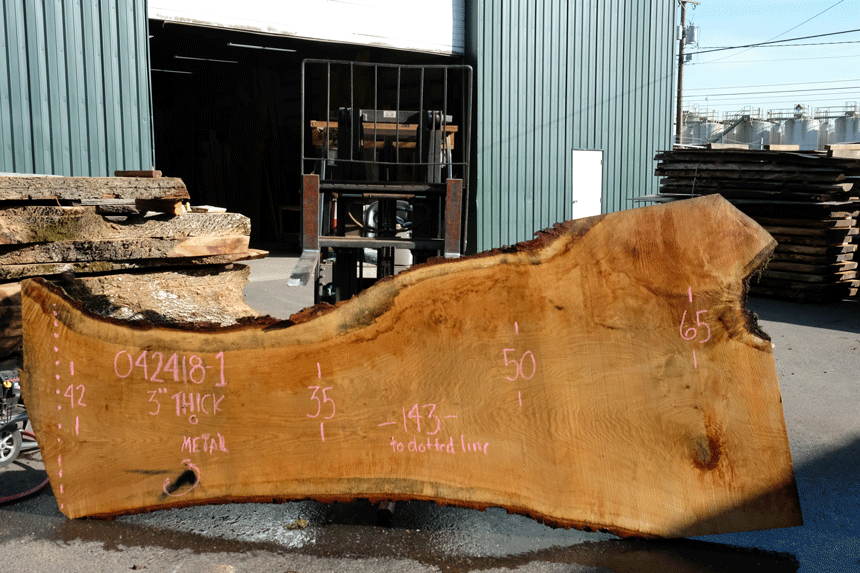 Oregon White Oak Slab 042418-01